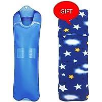 Gummi-Thermoskanne 2000ML große PVC-Warmwasser-Flasche-Lange Art-Heißwasser-Tasche für die Schmerz-Kälte mit Abdeckung-großem... preisvergleich bei billige-tabletten.eu
