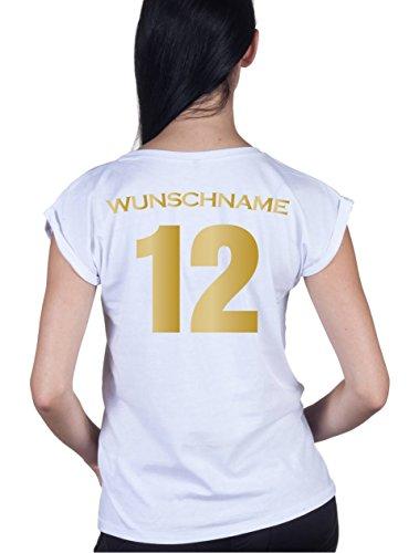 Loomiloo WM EM Deutschland Fußball Tshirt Damen Frauen Trikot XS