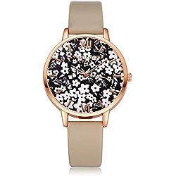 Coconano Relojes Mujer Baratos, Reloj de Pulsera Redondo de Cuarzo Analógico de Moda Para Mujer.