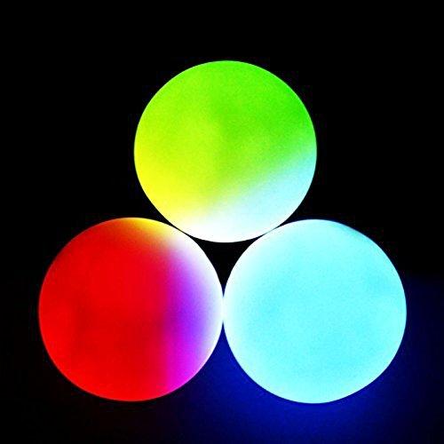GloFX LED 9-Modus Jonglierbälle - Set von 3 - Rave EDM- Partei Licht Mehrfarbig