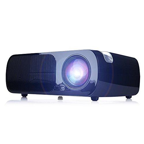 HD del Proyector LED, La Ayuda 1080P, Corrección de Distorsión, Soporte Para...