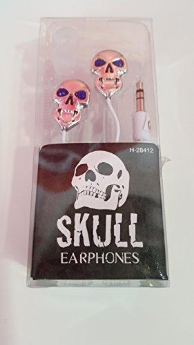 funky-audiomaster-skull-earphones-chrome-effect-blackwhite-chrome-pewter