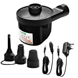 Cadrim Electric Air Pump, Camping Electric Pumps Inflator/Deflator with 3 Nozzles for airbeds