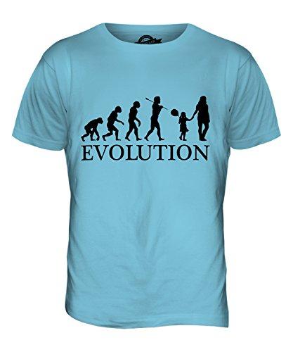 CandyMix Geburtstag Mädchen Evolution Des Menschen Herren T Shirt Himmelblau