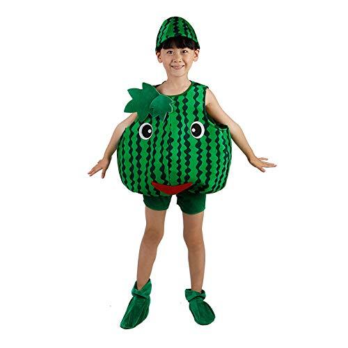 Kostüm Wassermelone Kind - Kinder Obst Gemüse Kostüme Kinder Party Cosplay Kleidung Für Kinder Kostüm Party Jungen Mädchen (Wassermelone)