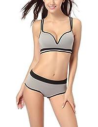 Zicac 2014 nouveau 2 pièces Sexy Femme Bikini Maillots De Bain Bustier rembourré avec pendant métal