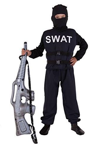 Magicoo SWAT Kostüm für Kinder Deluxe - Polizei Kostüm für Kinder Jungen - Polizist Kostüm Kinder - Kind Geheimagent Kostüm