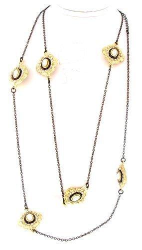world-9144-36-cm-in-argento-da-donna-colore-nero-con-medaglione-in-oro-con-perla-centrale