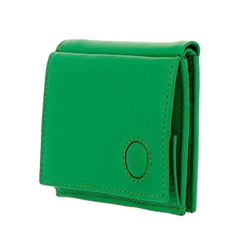 Petit Portefeuille pour Homme en Cuir avec Porte-Monnaie et Porte-Cartes de crédit de Nuvola Pelle Vert Clair