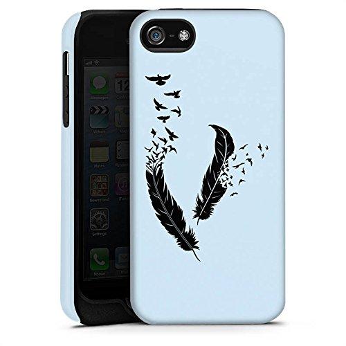 Apple iPhone 4 Housse Étui Silicone Coque Protection Ressort Oiseaux Paix liberté Cas Tough terne