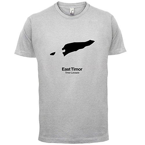 East Timor / Osttimor Silhouette - Herren T-Shirt - 13 Farben Hellgrau