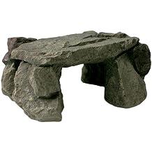 Zilla reptil Habitat decoración esquisto rock den, tamaño mediano