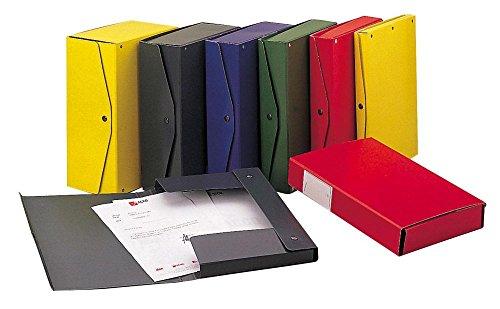 Rexel 00023311 project 4 scatola archivio dorso, 4 cm, rosso