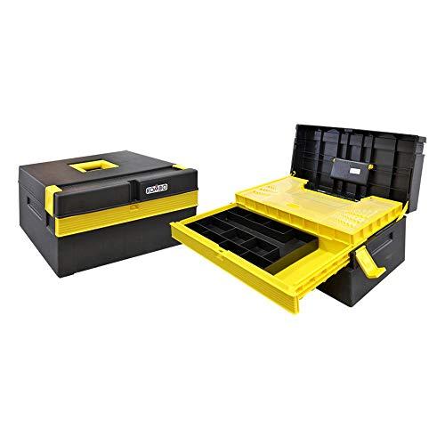 Kombo - cassetta portautensili portattrezzi. 2 vassoi scorrevoli con slot utensileria manuale. vaschetta estraibile. dim 500x290x245mm
