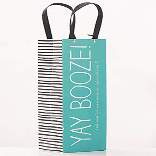 Wein Geschenk Verpackung Beutel Papier Tasche Verdickung Handtasche ()