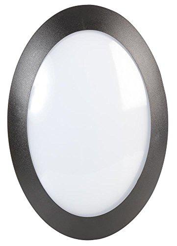 Pro Elec?14W, 220?240VAC Noir circulaire ovale lampe LED