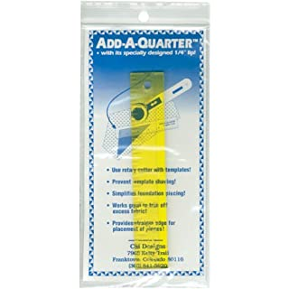 CM Designs Add-A-Quarter Ruler-6-inch, Yellow, 6