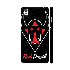 Colorpur OnePlus X Cover - Red Devil On Black Case