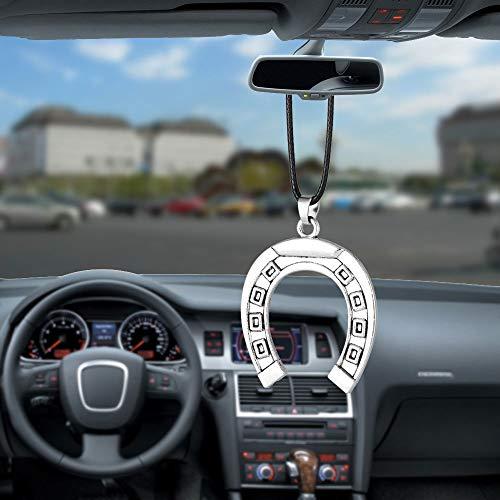 Auto Anhänger Russland Glück Hufeisenmagnet Startseite Rückspiegel Dekoration Hängende Ornamente Charms Auto Decor Autos Zubehör