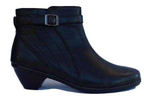Cushion Walk Womens Western Heel Side Zip Fashion Boots in Black -...