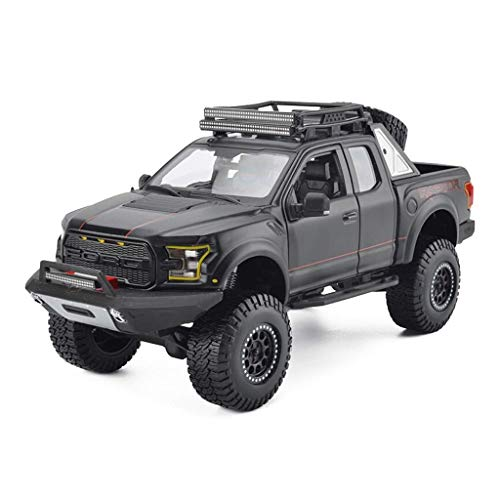 Pkjskh 1:18 Model Car F150 Super Fuoristrada metallo Simulazione Collection Decoration Scegli lucida Vernice Design Motore Close-up Giocattoli for adulti Collezione bamb