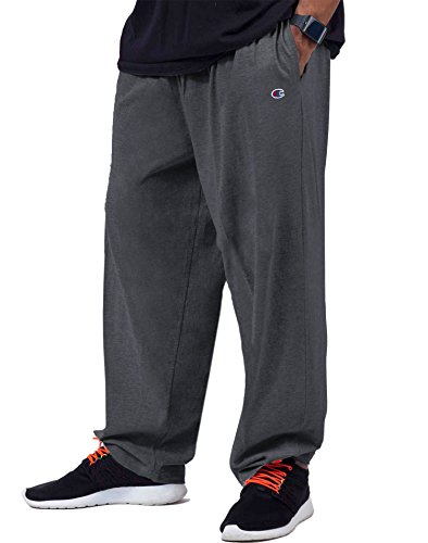 Champion Big and Tall Jersey Knit Pant (Charcoal Grey 4X) (Knit Pants Jersey)