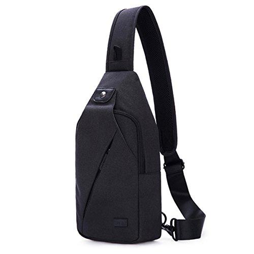 TINYAT Schultertasche Pack, Brust Schulter Crossbody Wanderrucksack Sport Fahrrad Rucksack Handtasche Schule Daypack für Frauen Männer Junge Mädchen Jugendliche, T609 -