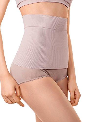 MD Post Schwangerschaft Shapewear Postpartum Gürtel Bauch weg Band Body Shaper Medium Nude (Mutterschaft Höschen Shaper)
