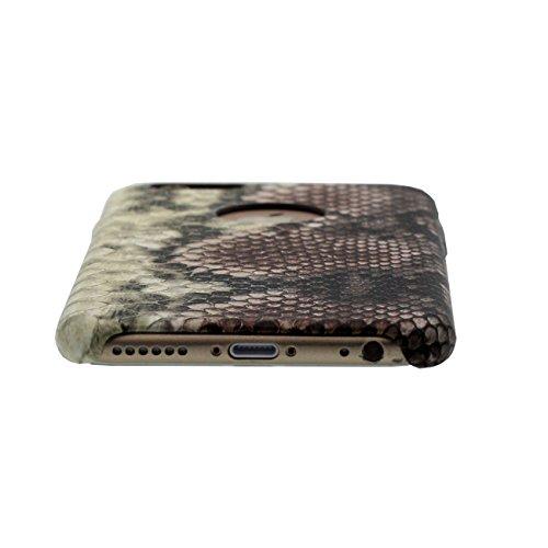 Apple iPhone 6 / 6S Coque Case 4.7 inch, Créatif Snakeskin Désign Dur Plastique Slim Mince Poids Léger Etui color-4