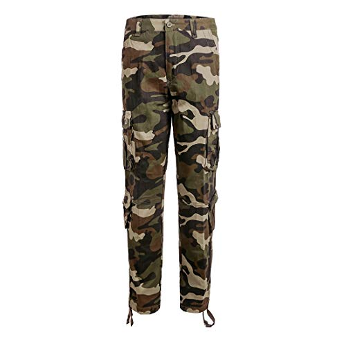 iCKER Herren Cargo Hose Camouflage Pants Camo Trousers Arbeitshose Freizeithose Camouflage Cargo Hose