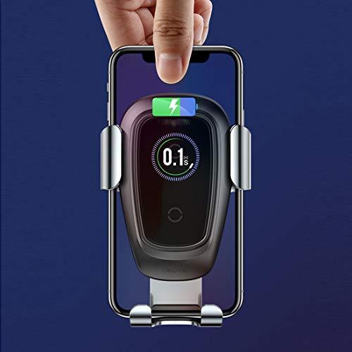 RUNNG Caricabatteria da Auto Wireless Compatibile con Apple iPhone X, 8, 8 Plus/Samsung Galaxy S9, Nota 8, S8, S8 +, S7, S7 Edge/LG G6, G4 / Microsoft/Motorola, ECC.