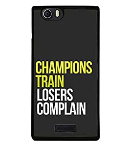 Fuson Designer Phone Back Case Cover Micromax Canvas Nitro 2 E311 ( Difference Between Champions And Losers )