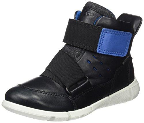 Ecco Unisex-Kinder Intrinsic Sneaker, Schwarz (Black/Cobalt), 35 EU