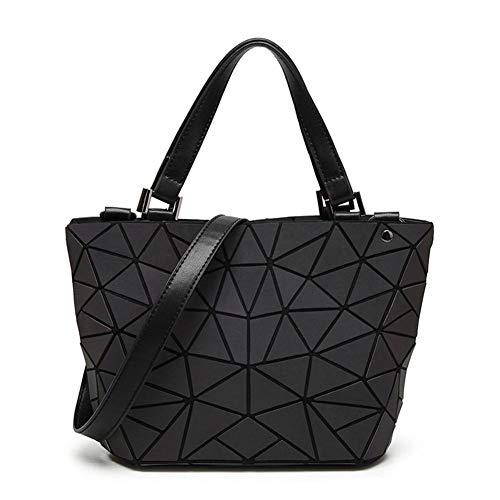 Libeauty Rhombus Geometrie Umhängetaschen Eimer Tasche Umweltfreundliche Lederhandtaschen Shopping Kausal Tasche -