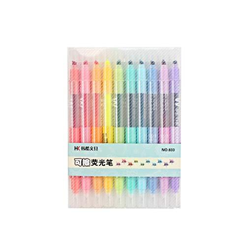 Tinaa Textmarker, doppelter Kopf, Stift, Farbe, Marker, Bürobedarf