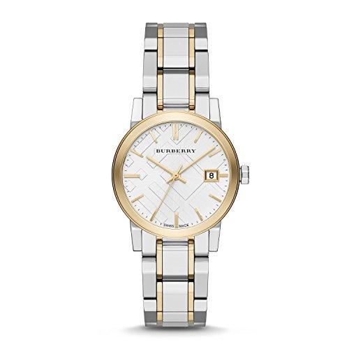 BURBERRY BU9115 - Reloj para mujeres, correa de acero inoxidable multicolor