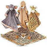 Teddykompaniet - Diinglisar Wild Giraffe - Baby Comfort Blanket