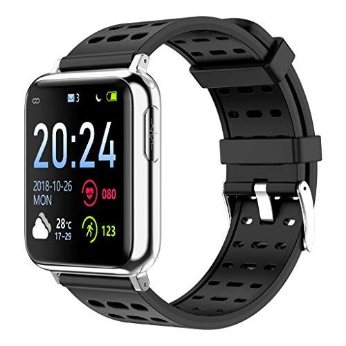 Multifunktions-High-Definition-Farbdisplay Sport Chronograph Schritt Herzfrequenz Blutsauerstoff-Tracker Informationsaufforderung IP67 wasserdicht AI Smart Sportuhr/Kompatibel mit iOS Android-Gerät