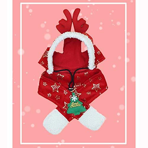 LoveOlvidoD Hund Urlaub Weihnachten Hut Welpen Hund Weihnachtsmütze -