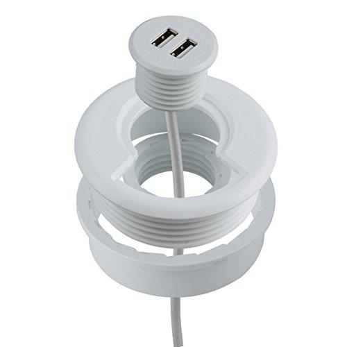 Heitronic USB de 2puertos de enchufe de carga empotrable para muebles/placas de...