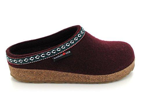 Haflinger Franzl 711001, Pantofole donna Bordeaux