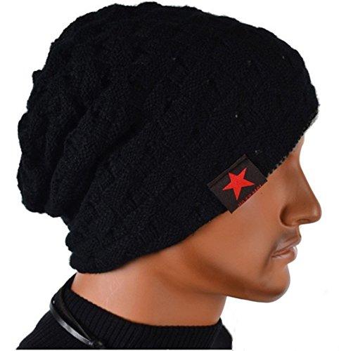Thenice Men Reversible Slouchy Beanie Hat Unisex Skull Hat