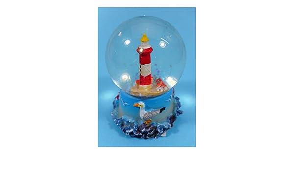 Cor Sch/üttelkugel Leuchtturm 6,5 x 5 cm Schneekugel Maritim Deko 9091 C