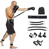 Allenatore di fasce elastiche per la velocità e l'agilità di tutto il corpo da 100 libbre - Set allenamento forza delle gambe Potenza esplosiva, per boxe squat salto verticale, con borsa trasporto