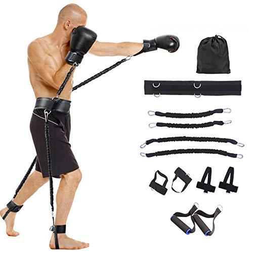 GYFHMY 100 Pfund Ganzkörper Geschwindigkeit und Beweglichkeit Widerstand Bands Trainer - Beinkrafttraining Set Explosive Power, für Vertical Jump Squat Boxing, mit Tragetasche