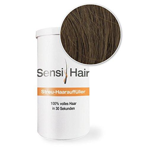 SensiHair Streuhaar / Schütthaar zum Verdichten und Kaschieren von lichtem und dünnem Haar, Dunkelbraun, 12 g