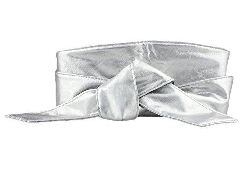 QincLing Damen Faux Leder Wrap Um den Breiter Taillenguertel Bowknot-Bund Cinch Gürtel (Große Korsett Hüftgurt Cinch)