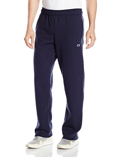 Champion Men's Powerblend® Fleece Open Bottom Pants M Blue (Fleece Open Pant Bottom)