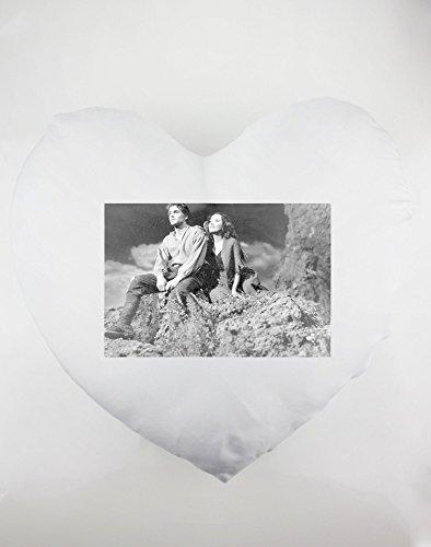 Heartshaped almohada con Laurence Olivier y Merle Oberon en la Move Wuthering Heights