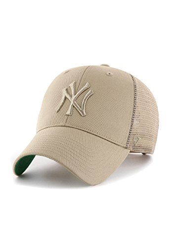 47Brand Branson Trucker MVP Cap NY Yankees BRANS17CTP-KH Beige, Size:ONE Size
